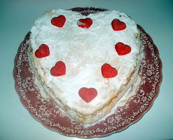 recette Génoise coeur