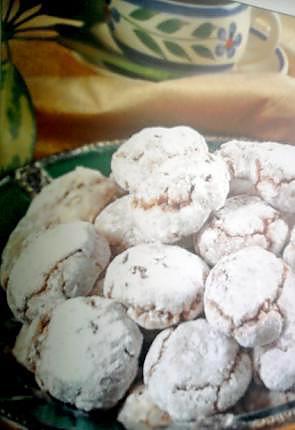 recette PÂTISSERIE MAROCAINE ghribas au noix