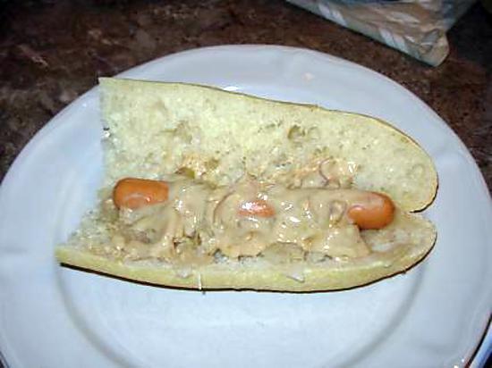 recette Choucroute en Hot dog & sa ptite sauce crémeuse