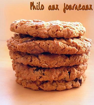 recette de cookies aux flocons d 39 avoine au beurre de. Black Bedroom Furniture Sets. Home Design Ideas