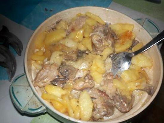 Recette de poulet fermier a la normande par nicolase - Comment cuisiner la truite au four ...