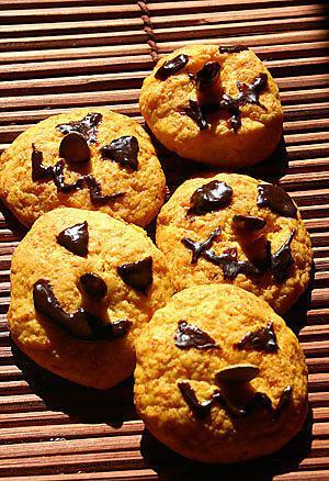 recette Cookies d'Halloween au potimarron