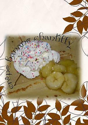 recette crêpe banane chantilly