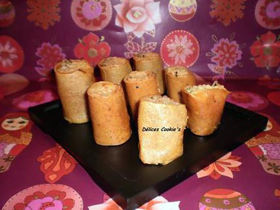 recette Makis de crêpes tofu/surimi/endive