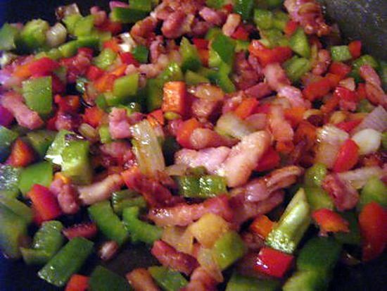 recette Poelé de légumes aux lardons.