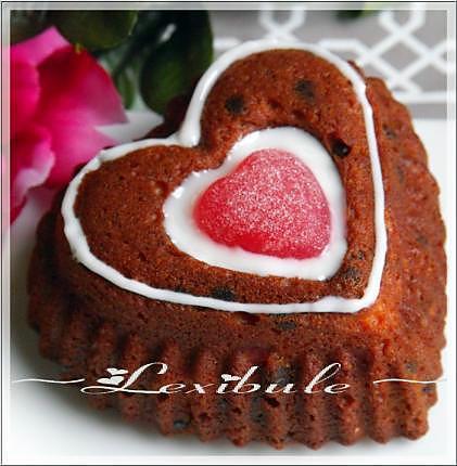 recette Coeur aux cerises, nois et grains de chocolat