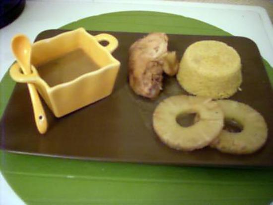 recette Poulet au lait de coco et semoule épicée