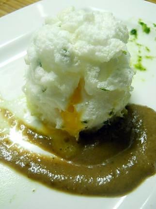 recette Blanc à manger d'oeuf façon rocher soufflé