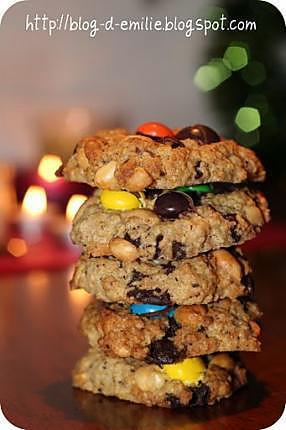 recette Cookies cacahuètes et chocolat