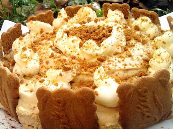 recette Piéce montée de mousse au speculos et son glaçage au mascarpone