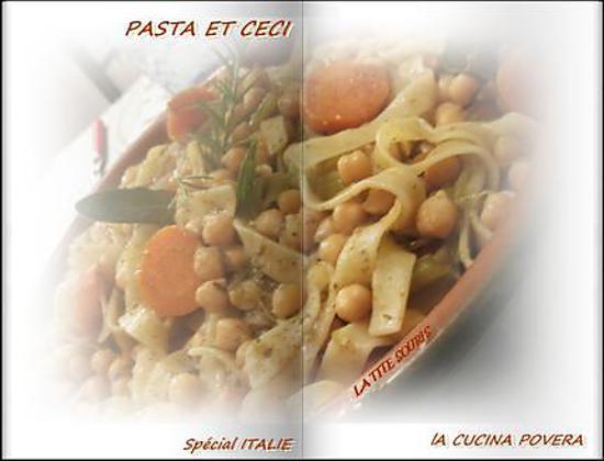 recette Pâtes et pois chiche (pasta e ceci, recette italienne)