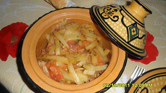 recette Frites à la sauce tomate