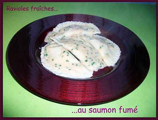 recette Ravioles fraîches au saumon fumé