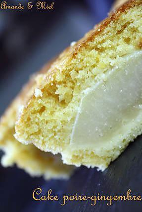 recette CAKE POIRE GINEMBRE