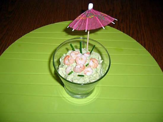 recette Verrine d'avocat aux crevettes
