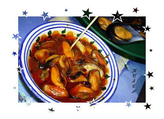 recette Moules sauce piquante pour l'apéritif