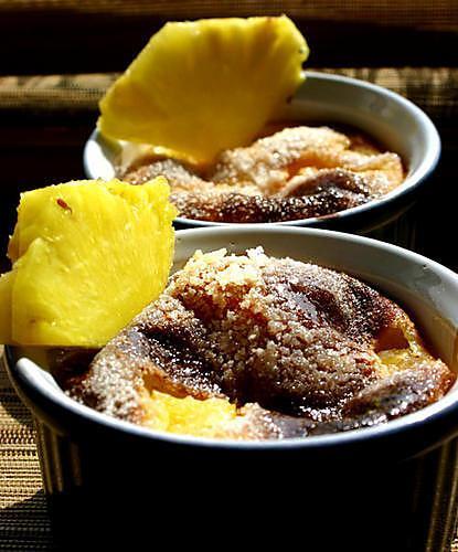 recette Crème brulée à l'ananas