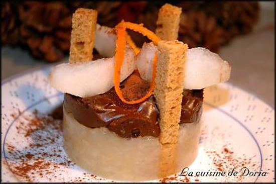 recette Délice poire, chocolat au sésame du Nicaragua et au gingembre du Laos