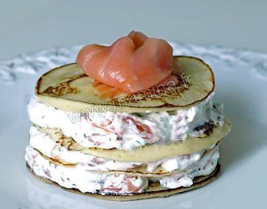 recette de millefeuille de crÊpes au saumon fume