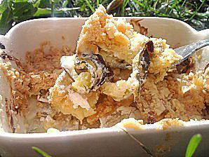 recette Crumble de courgettes et chevre