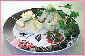 recette Crepes au jambon et fromage façon aumonieres