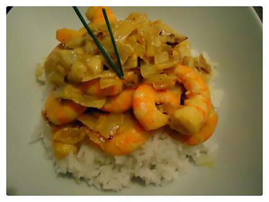 recette crevettes au lait de coco curry