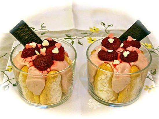 recette VERRINES MOUSSE FRAMBOISES LEGERE
