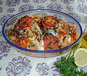 Recette de poisson au four la marocaine - Cuisiner le cabillaud au four ...