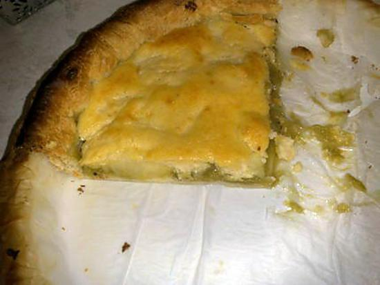 recette Tarte aux pommes et rhubarbe rapide