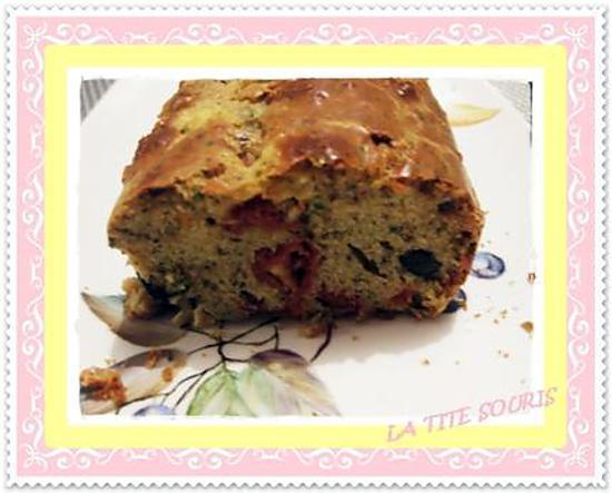 recette Cake safrané au chorizo et tomates séchées