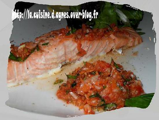 Recette de pav de saumon aux saveurs printani res - Comment cuisiner un pave de saumon ...