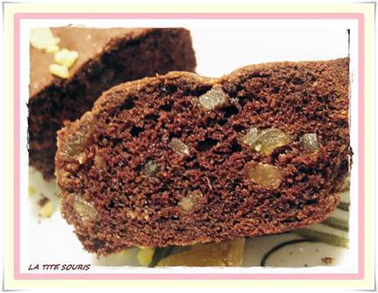 recette Cake au chocolat citron et gingembre confit