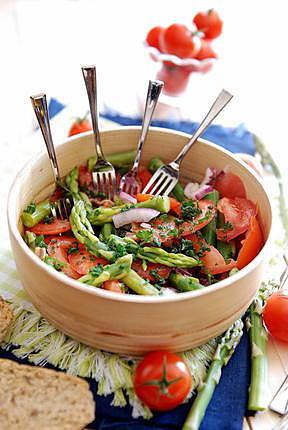 recette Salades de tomates, asperges et anchois