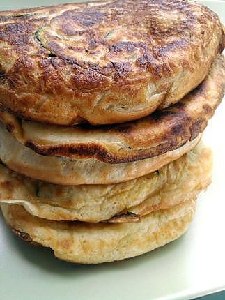 recette pancakes  courgettes et mozarella