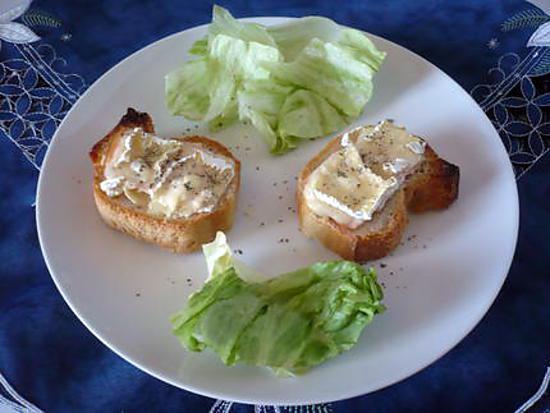 recette Tartine camembert allégé/blanc de volaille