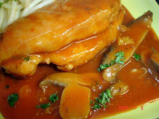 recette poulet aux tomates et madère
