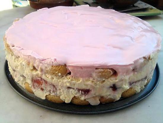 recette Tiramisu au fraise et son glaçage au fraise Tagada ®