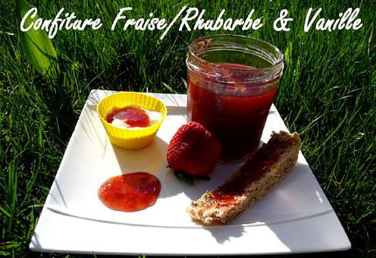 recette Ooo Confiture rhubarbe/fraise & vanille au Cooking Chef ooO