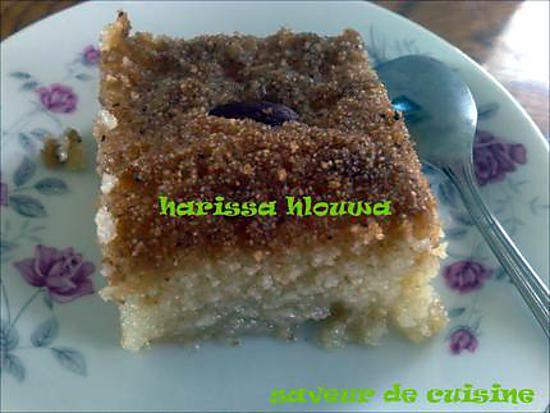 recette harissa sucrée (pâtisserie tunisienne)
