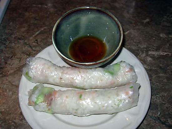 recette Rouleaux de printemps au saumon fumé ...