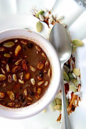 recette Panna cotta au chocolat et graines bio