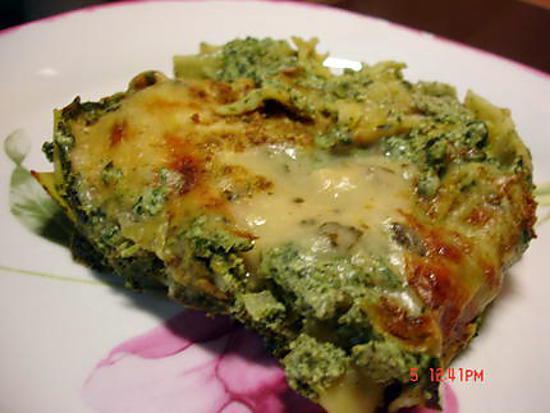 recette Lasagne épinard ricotta et sa béchamel au basilic