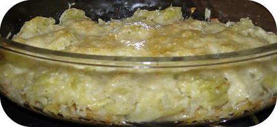 recette Gratin de Ravioles du Daupiné sur Lit d'Oignons Caramélisés
