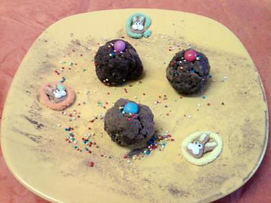 recette Truffes enfantin au nutella de tata gateau LiLi