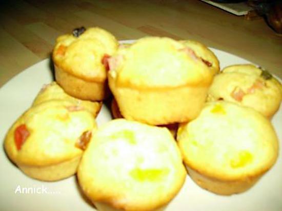 recette mini-cakes aux fruits confits