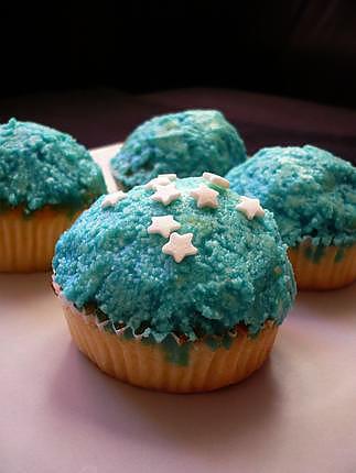 recette Blue lemon cupcakes
