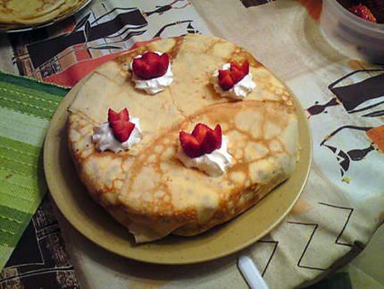 Gateau au crepe fraise