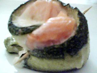 recette Roulé de courgettes au saumon et mozarella