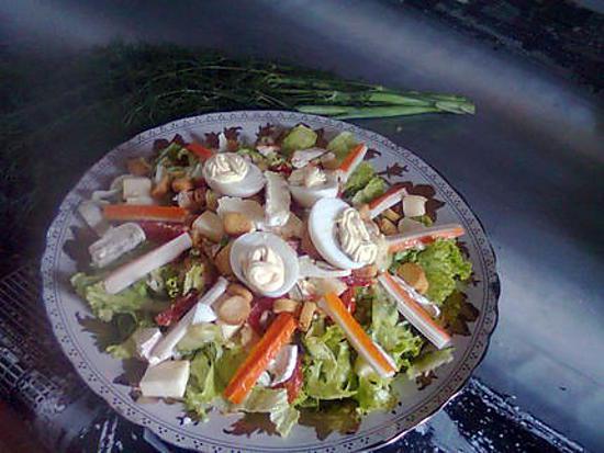 recette Salade fromage de lozére