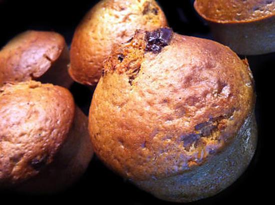recette Muffins Vanille forts en Chocolat ! Diététiques et gourmands....